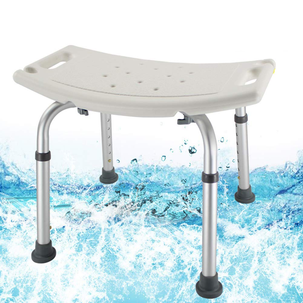Gxni Bath Shower Chair Adjustable 7 Height Bench Non-Slip Bathtub ...