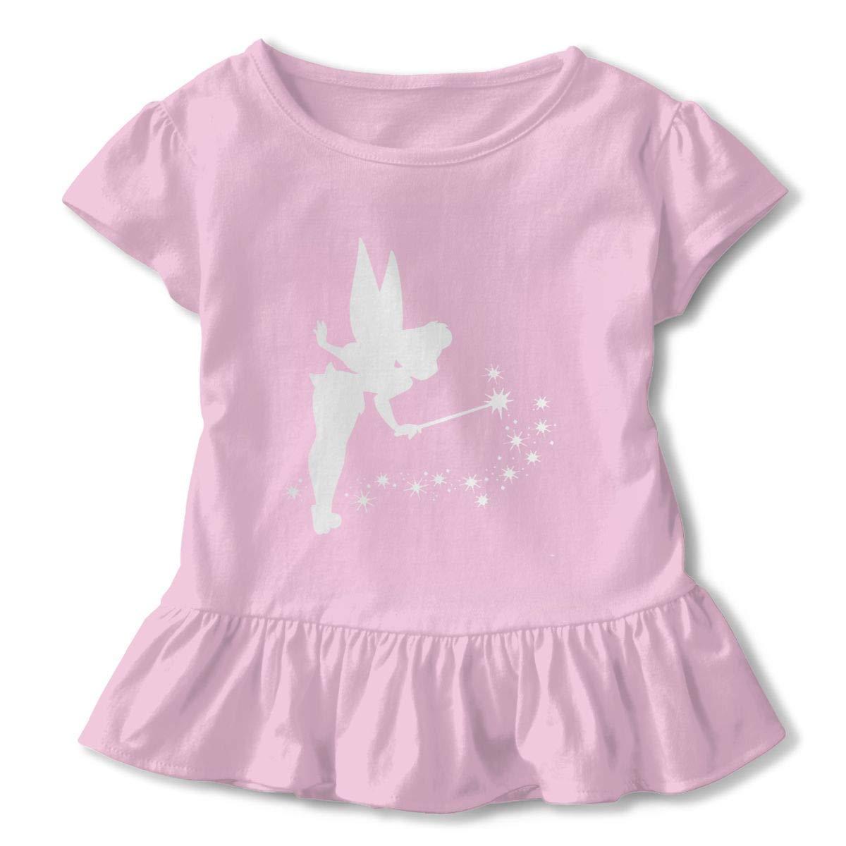 Kid T Shirt Tinkerbell Platinum 3D Tee Baseball Ruffle Short Sleeve Cotton Shirts Top for Girls Kids