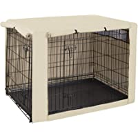 HiCaptain Polyester Dog Crate Cover - Durable Windproof Pet Kennel Cover for Wire Crate Indoor Outdoor Protection (24…