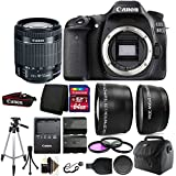 Cheap Canon EOS 80D 24.2MP D-SLR Camera plus 18-55mm Lens + 64GB Top Accessory Kit + Spare Batteries