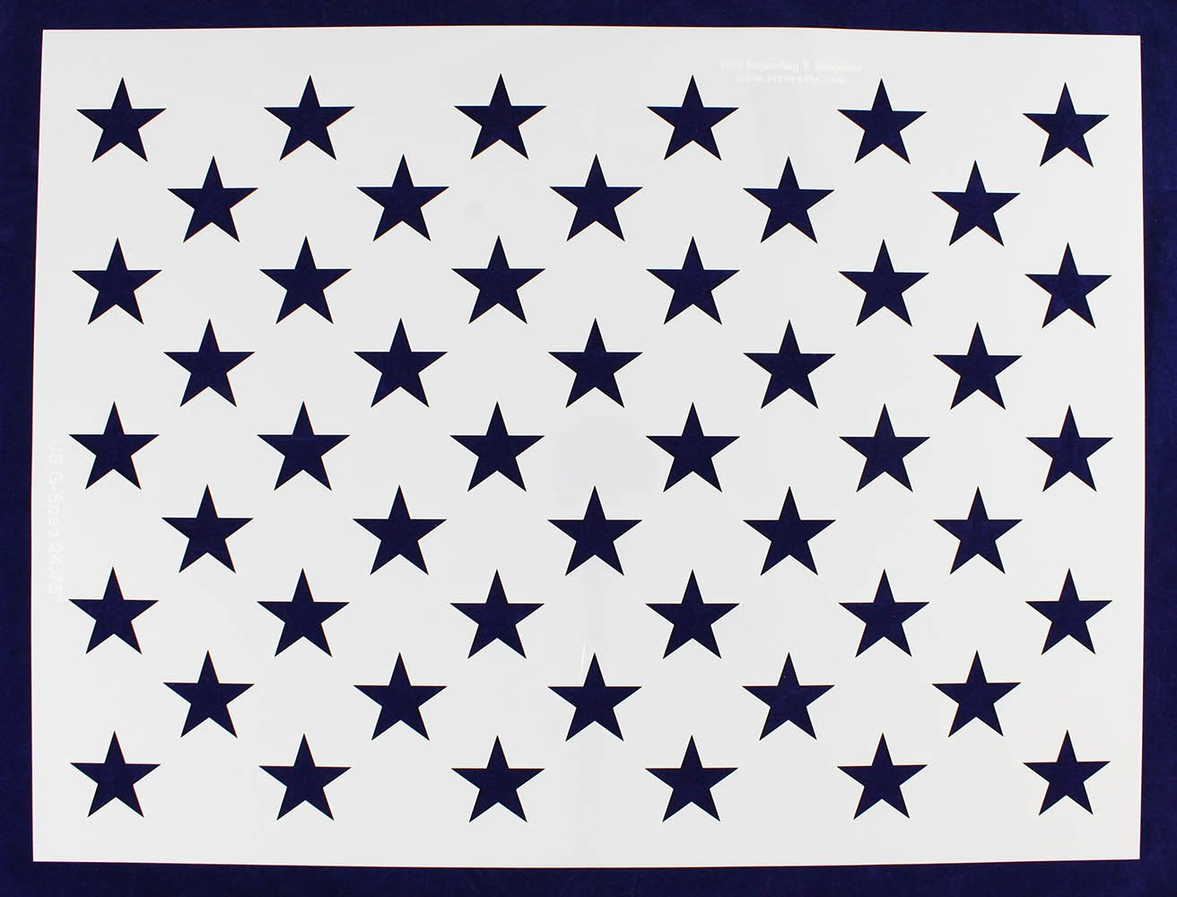 50 Star Field Stencil - US/American Flag - G-Spec 18''H x 24.73''L