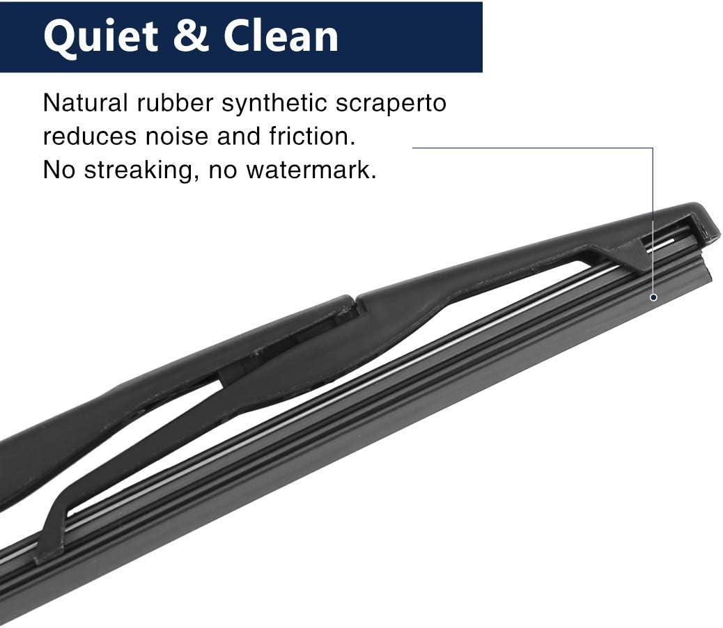 X AUTOHAUX Car Rear Windshield Wiper Blade Arm Set 265mm 10 Inch Black Fit for Dodge Nitro 2007 2008 2009