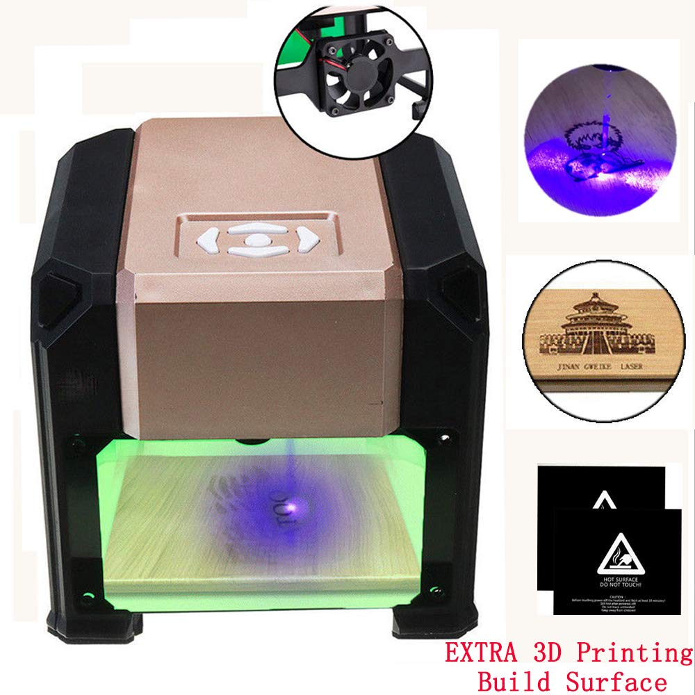 3000mW USB Desktop Laser Engraver Range 80x80mm Machine DIY Logo Mark Printer Cutter CNC Laser Carving Machine Engraving