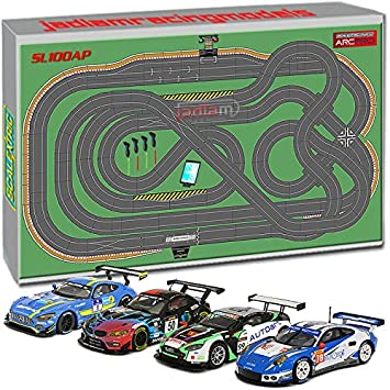 Scalextric Digital Set Sl100 Jadlamracing Layout Arc Pro With 4 Cars