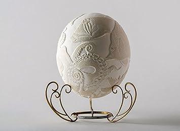 Madeheart Lampe Oeuf D Autruche Artisanale Royaume De Poseidon