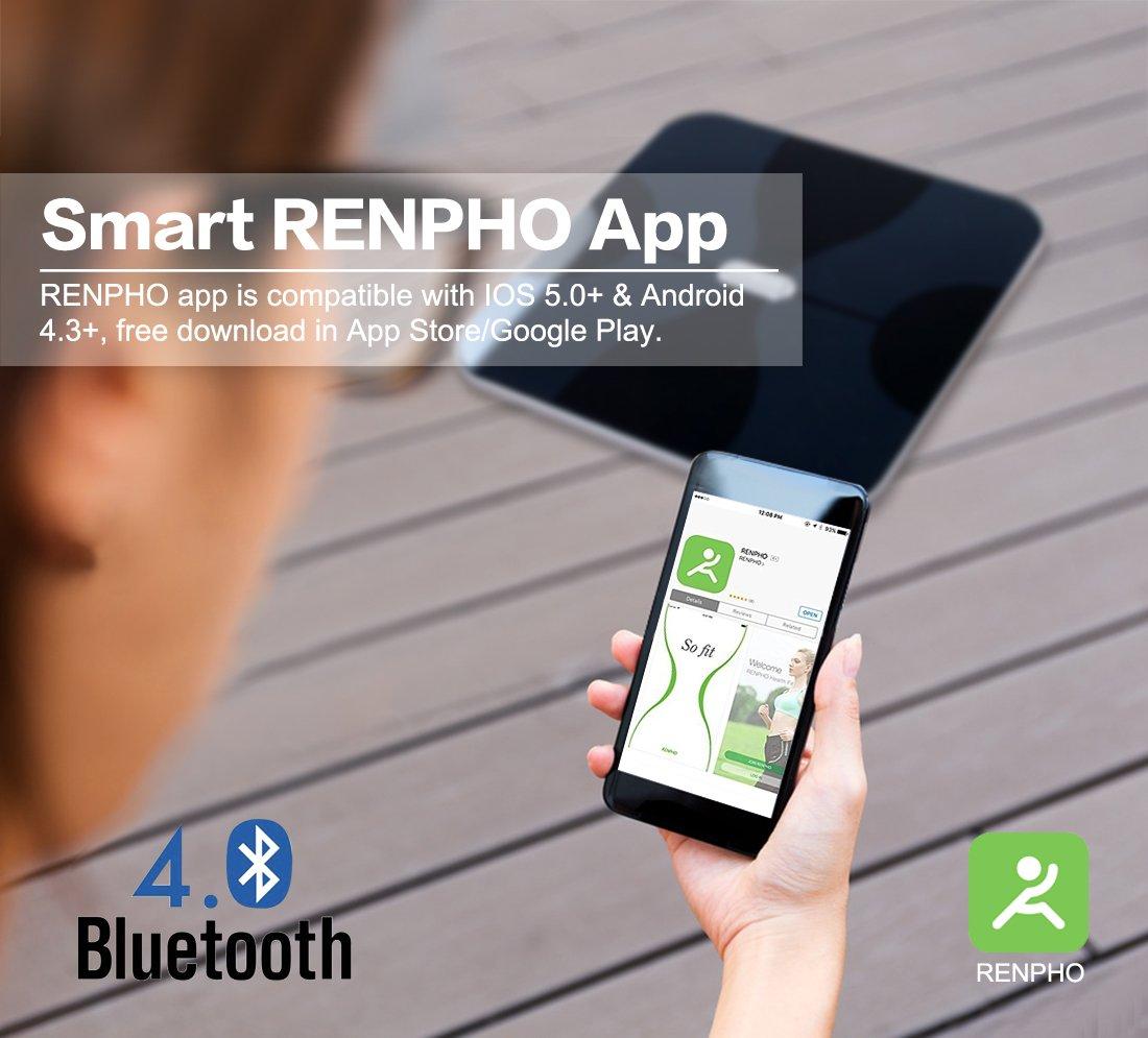 RENPHO Báscula corporal digital inalámbrica con App para Android e ...