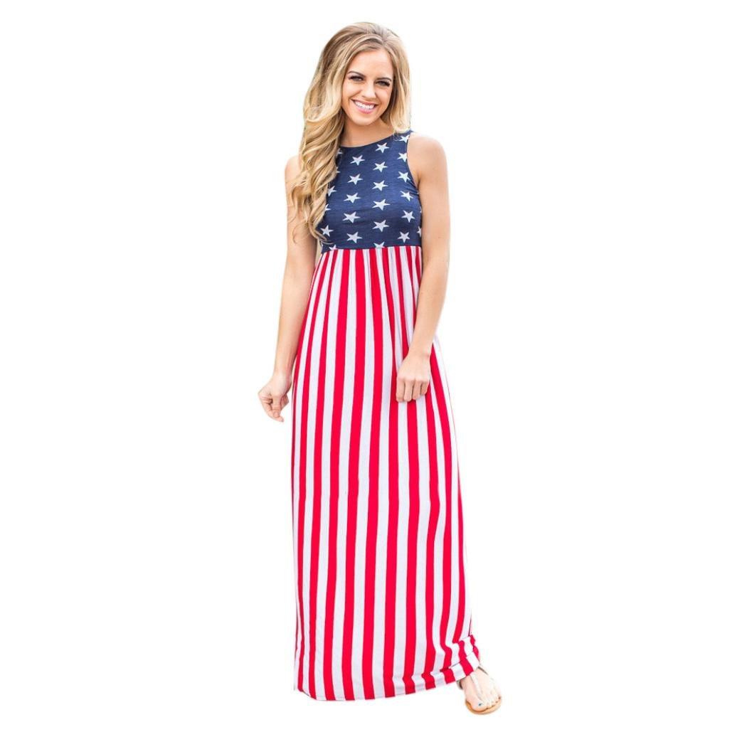 d79061722ec8e Amazon.com: WuyiMC Hot Sale! Women USA American Flag 4Th July ...