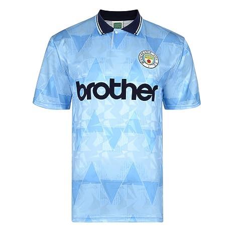 separation shoes cc4b6 dd6c3 Official Retro Manchester City 1989 Retro Football Shirt 100 ...