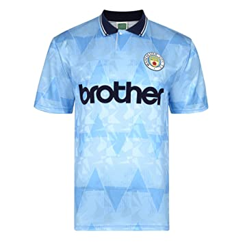 cc2b3c91619 Official Retro Manchester City 1989 Retro Football Shirt 100% POLYESTER