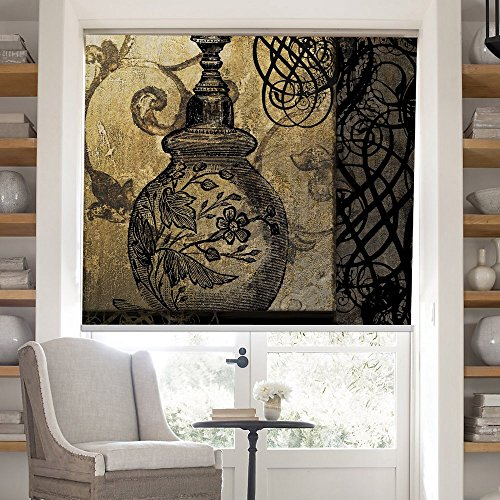 PASSENGER PIGEON Thermal Insulated Blackout Fabric Art Printing Custom Window Roller Shades Blinds,45