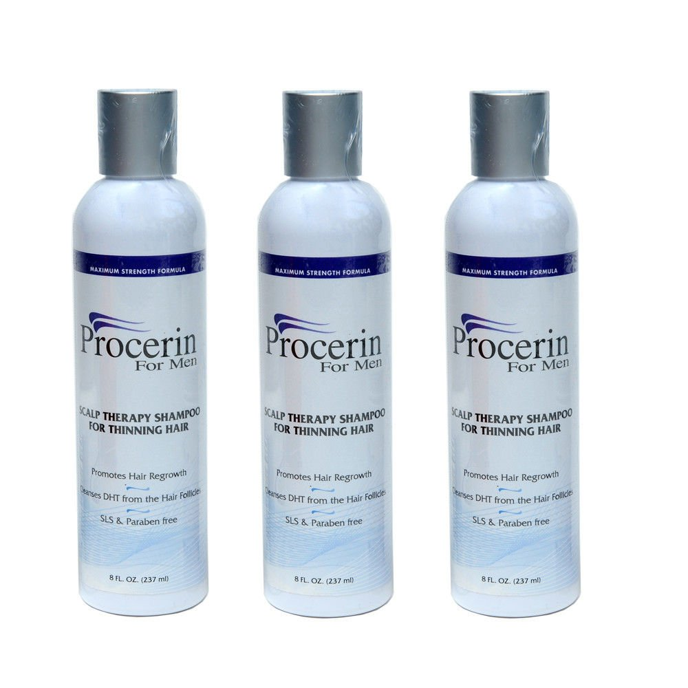 Procerin Shampoo for Hair Thinning Removes DHT Cleanse Scalp Hair Loss 3 Shampoo Shipping Fast