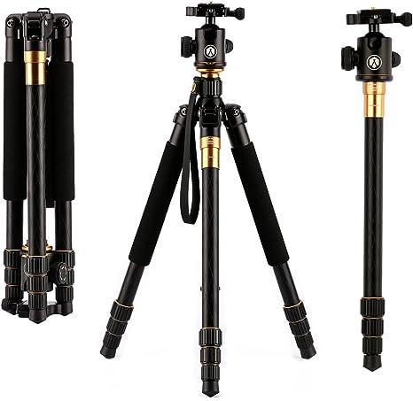 TARION trípode de 4 secciones para todos los tipos de cámara SLR ...