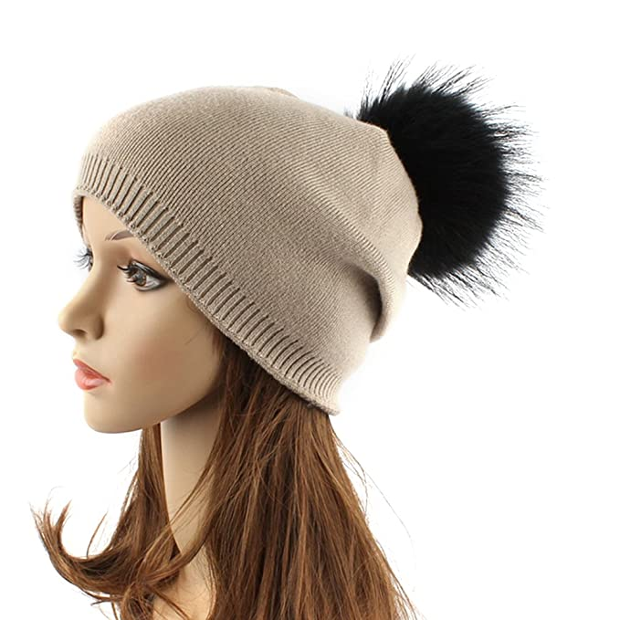 f216cd0bf4f Tinksky Women Winter Hats Fashionable Knit Beanie Cap Hat Warm with ...