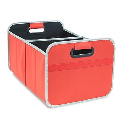 achilles Caja plegable para coche, caja plegable para maletero caja de baúl, roja, 50 cm x 32 cm x 27 cm