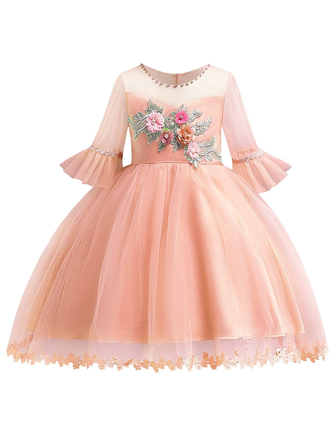 Weddings & Events Strict Beautiful Girls Sleeveless Satin Bowknot Swing Ruffles Flower Girl Dress Stylish Princess Kids Girls Wedding Party Dress Sz 4-14 Carefully Selected Materials Flower Girl Dresses