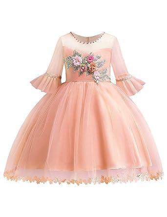 de50a3f29cc3e Blevonh Girl Fancy Dresses,Little Children Vintage Sleeve Fit Perfect Mesh Girl  Dress for Party