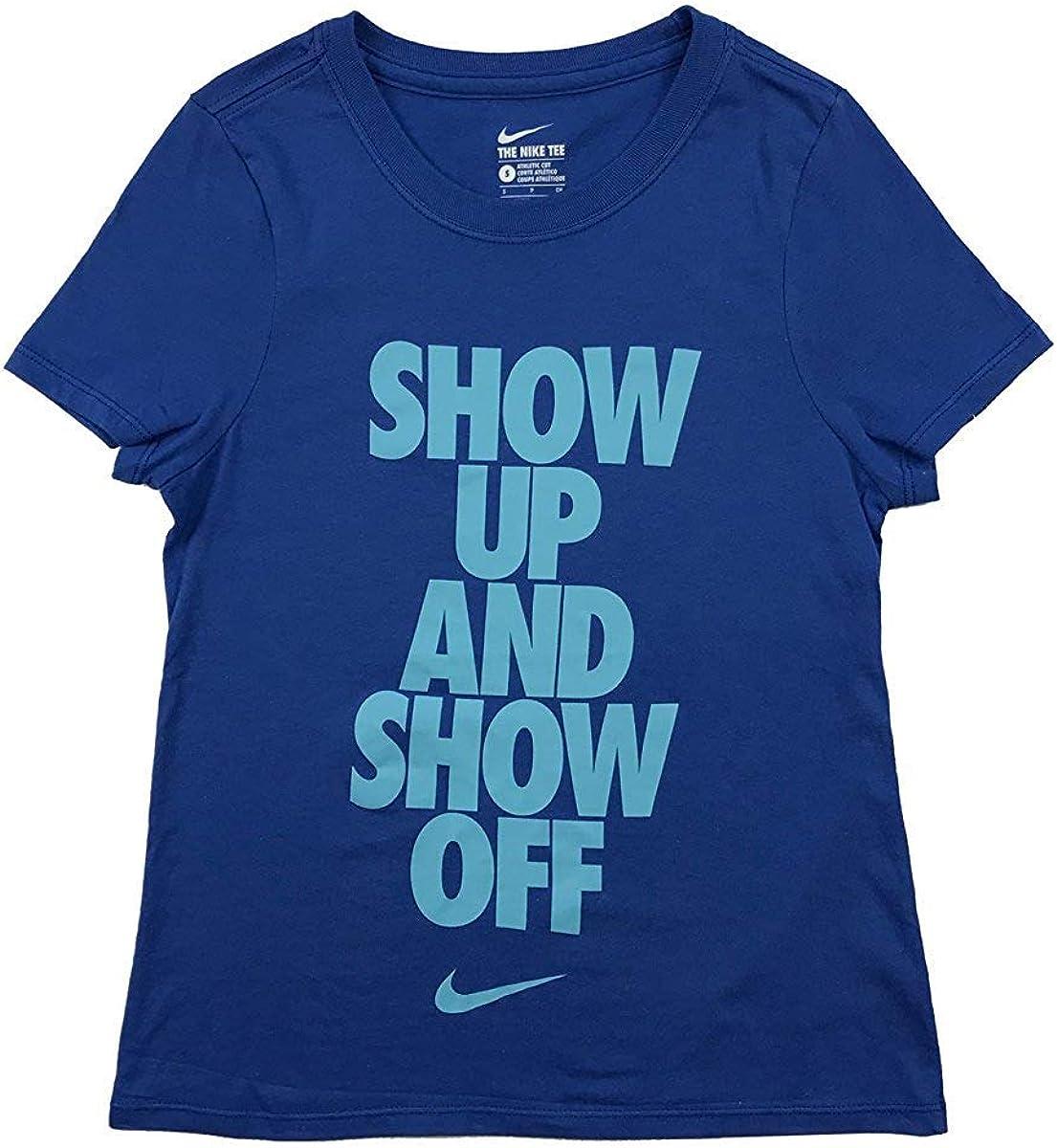 Nike - Camiseta de Manga Corta para niña (algodón), diseño gráfico ...