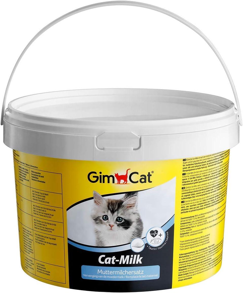 GimCat Cat-Milk, sustitución a la leche materna - Leche para gatos rica en vitaminas con taurina y calcio - 1 cubo (1 x 2 kg)