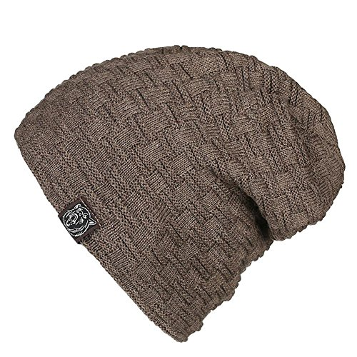 holgados esquí tamaño 3 caliente Moda paquete slouchy sombreros para de de de Invierno khaki Khaki ocio punto de forrado elasticidad gorro de hombre Gorro un H0nq6Bwx