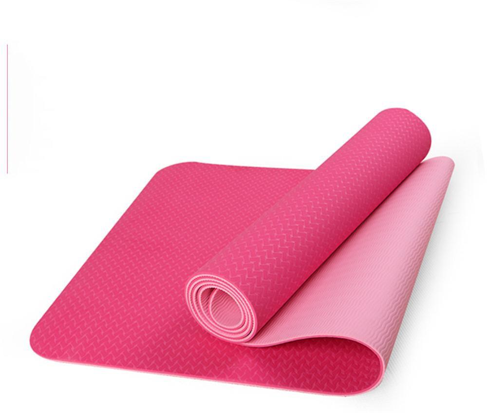 Anfänger TPE Yoga Matte Anti-Rutsch-Teppich Tablet Unterstützung Sport Sit-ups Fitness-Matte 6mm