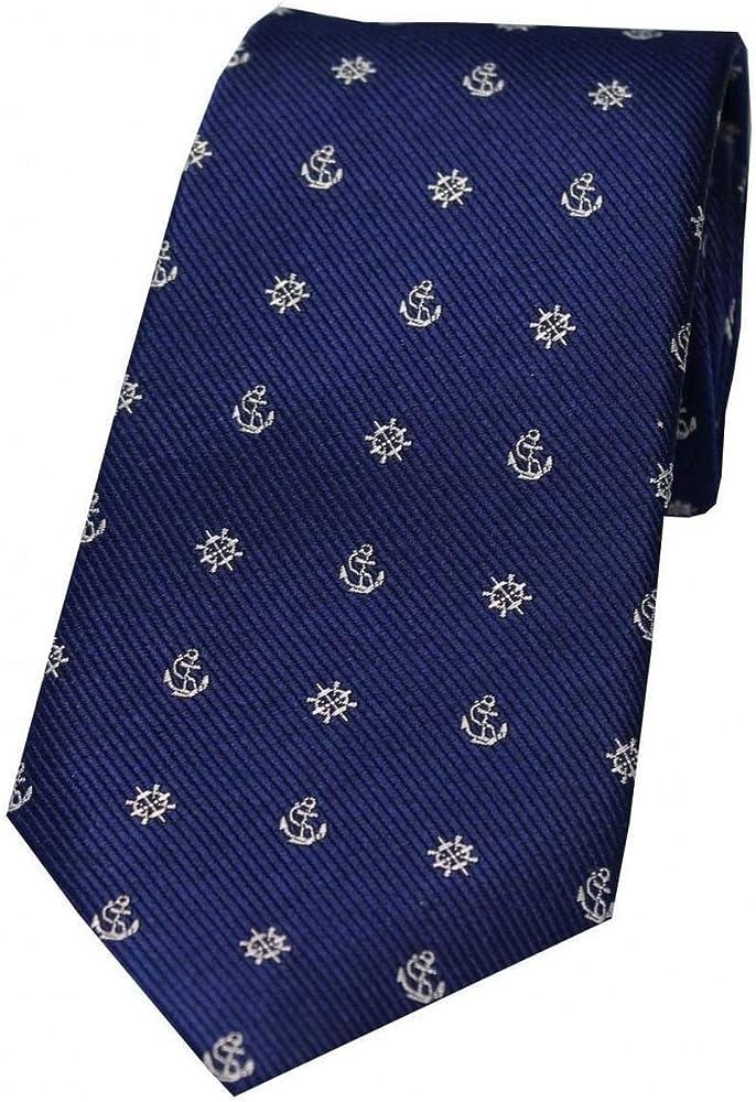 David Van Hagen - Corbata de seda para hombre, diseño de ancla y ...