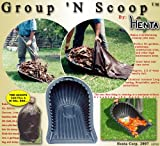 Henta Group N' Scoop Large Shovel (Black, Heavy Duty PE Plastics, 35 Inches x 22.5 inches, Set of 2)