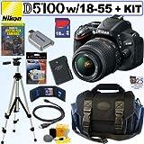 Nikon D5100 16.2MP CMOS Digital SLR Camera with 18-55mm f/3.5-5.6 AF-S DX VR Nikkor Zoom Lens + EN-EL14 Battery + 16GB Deluxe Accessory Kit, Best Gadgets