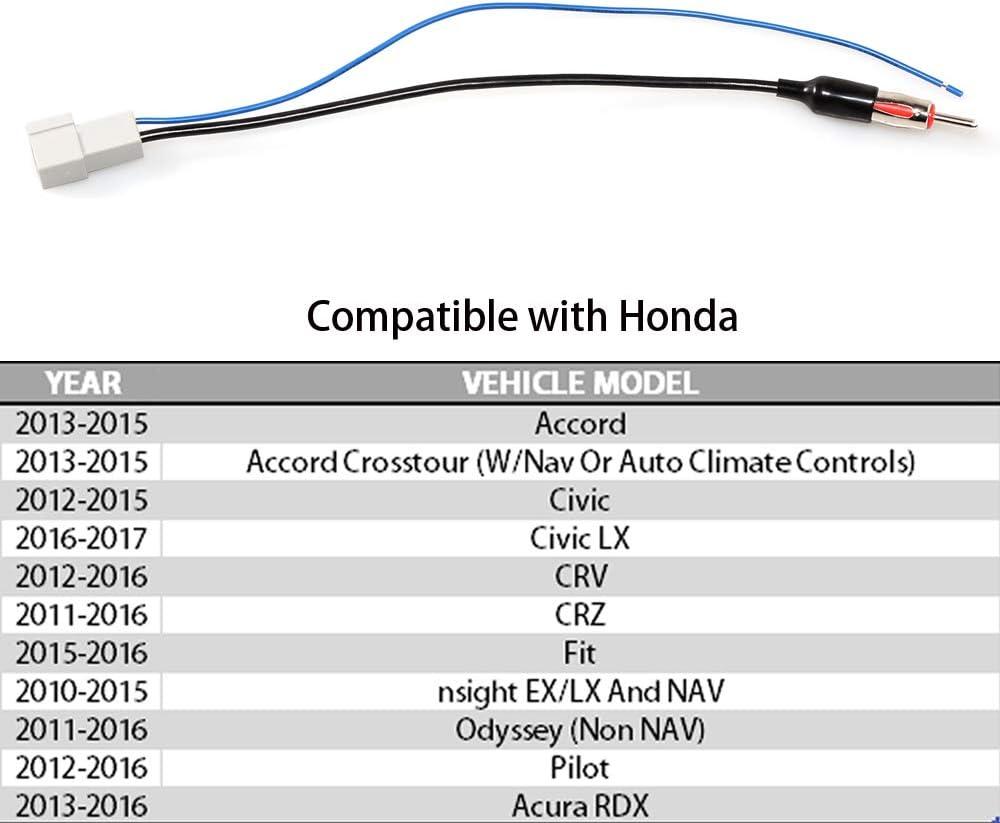 Honda Pilot Anina Car Stereo Radio Antenna Adapter Factory Antenna Cable to Aftermarket Radio Receivers for 2011-2016 Honda CRV Honda CRZ Honda Odyssey