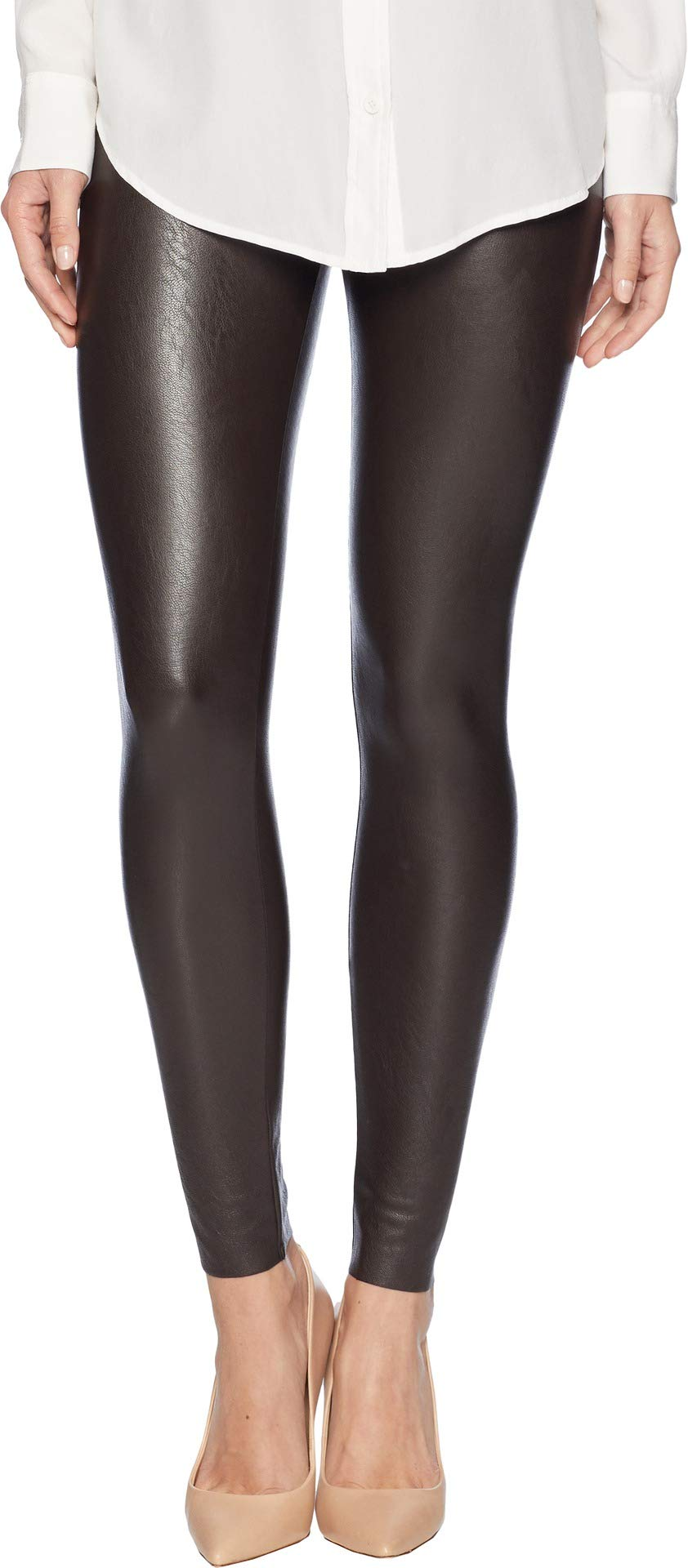 commando Women's Perfect Control Faux Leather Leggings SLG06 Espresso Large by commando (Image #1)