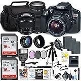 Canon Rebel T6 DSLR Camera 18-55mm Lens 75-300mm Lens Memory Card, Photo Software (Mac), 3 Battery Bundle