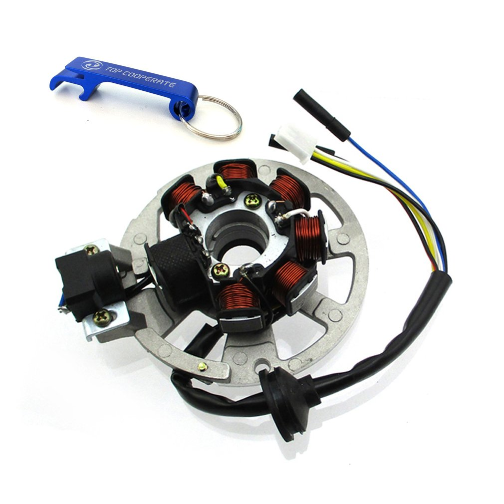 Tc Motor 5 Wires 7 Coils Ignition Magneto Stator For 2 Cobra 50 Atv Wiring Diagram Stroke Yamaha Jog Minarelli 50cc 90 90cc Scooter Eton Arctic Cat