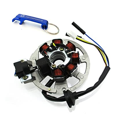 Amazon.com: TC-Motor 5 Wires 7 Coils Ignition Magneto Stator For 2 on 70cc atv wiring diagram, atv 100 wiring diagram, china atv wiring diagram, atv 4 wheeler wiring diagram, 150cc atv wiring diagram, bombardier atv wiring diagram, can am atv wiring diagram, mini atv wiring diagram, 110cc atv wiring diagram,