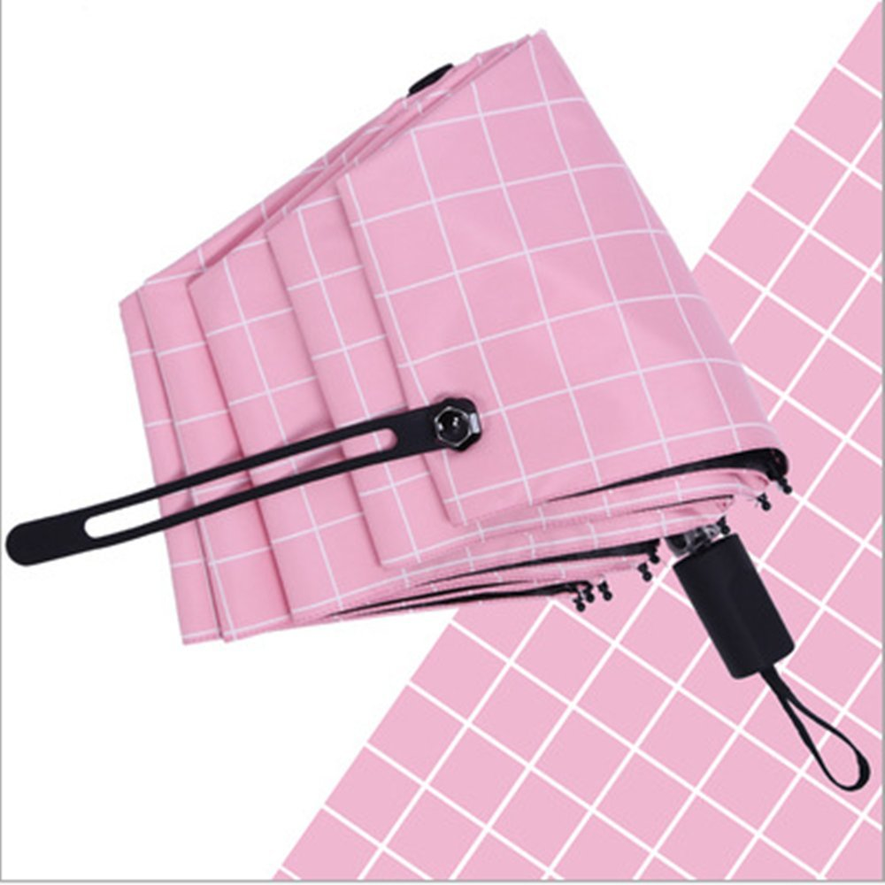 Creative Fashion Tri-Fold Manual Umbrella waterproof windproof and UV resistantsuitable for both sunny and rainy days (pink)