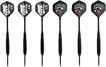 HongShan 6PCS Black Monster Patterned All-Metal Upscale Profession Darts Needle Throwing Tip Separable