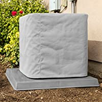 Outdoor Air Conditioner Cover 32x32x28 - Premium Marine Canvas - Gray - Made in the USA - 5-year Warranty