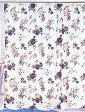 Purple Flower Nylon Shower Curtain, 70 x 70 Inch