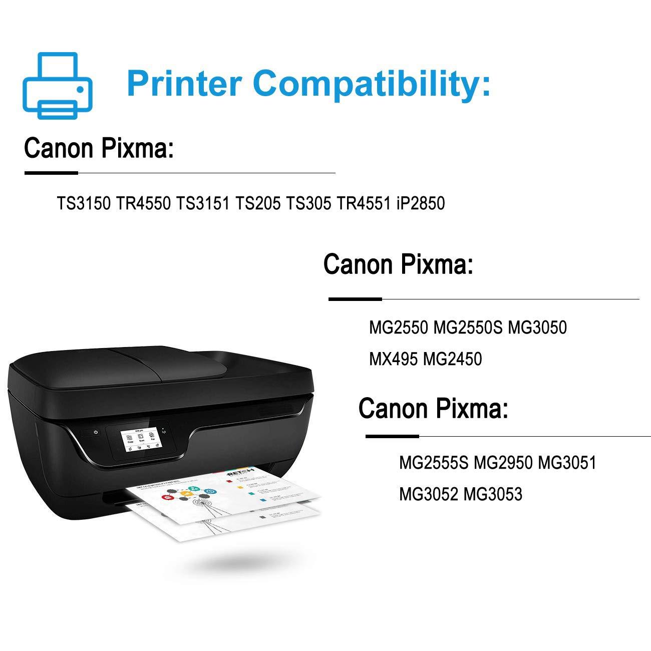 Nineleaf 2PK - Cartuchos de Tinta para Canon PG-545XL PG-545 XL ...