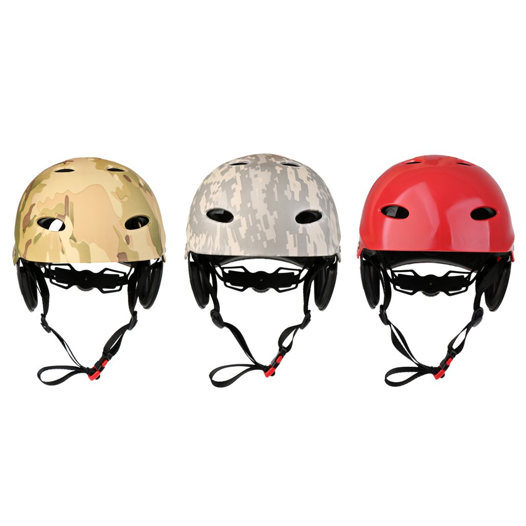 MagiDeal Professional Adjustable Water Sports Safety Helmet Kayak Canoe Sailing Surfing SUP Wakeboard Water Skiing Kitesurf Hard Cap