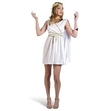 Sexy Carnaval para disfraz de mujer Diosa romana Corto Vestido con scherpe, cordón y cabeza joyas Mini vestido: Amazon.es: Juguetes y juegos