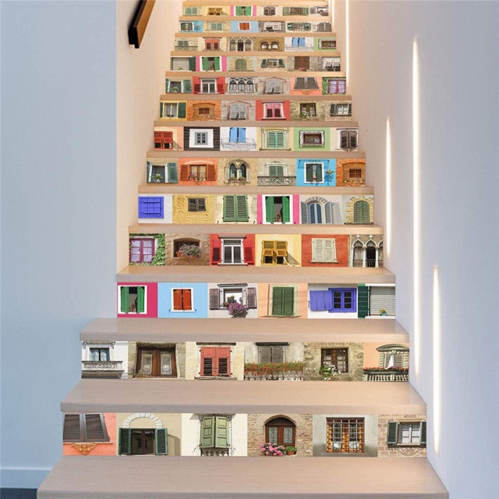 Patrón Etiqueta De La Escalera Decal Art Deco Extraíble Etiqueta De La Pared Decoración para El Hogar: Amazon.es: Hogar