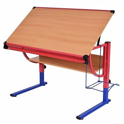 Beau Tangkula Drawing Desk Adjustable Drafting Table Art U0026 Craft Hobby Studio  Home Office Furniture
