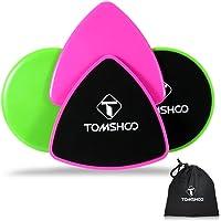 TOMSHOO Core Slider 4 Disques de Glisse Double Face Glissants pour Abdominaux Exercices – Tapis et Sols Durs