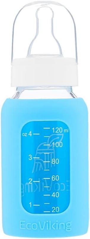 120 ml, En verre Biberon EcoViking 0-3 mois /À goulot standard