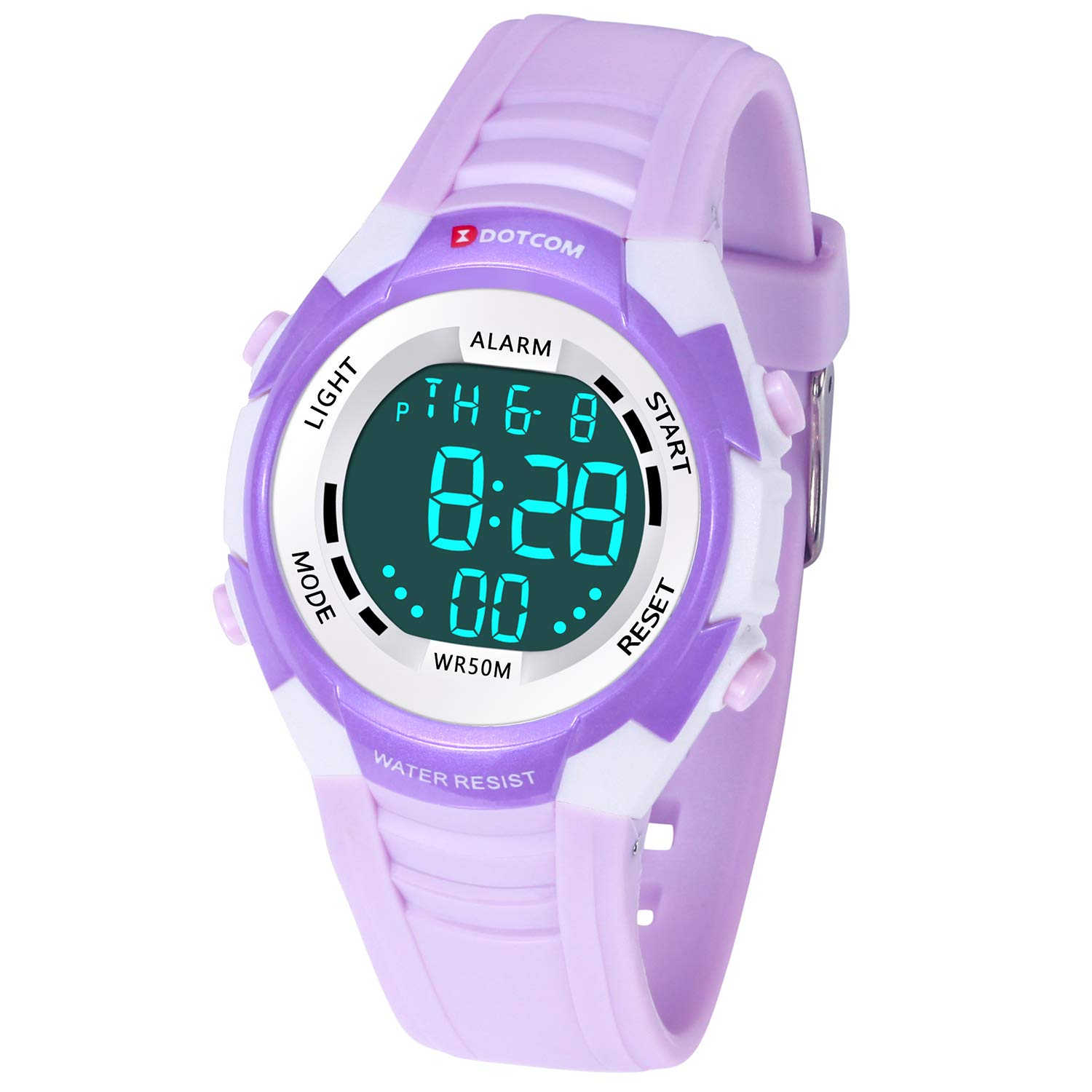 Children's Digital LED Electronic Watch Multifunction 50M Waterproof Sports Watch Boys and Girls for 3-12 Year Old(Purple) by TIMETOP