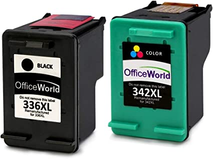 OfficeWorld Remanufactured HP 336 342 Cartuchos de Tinta ...