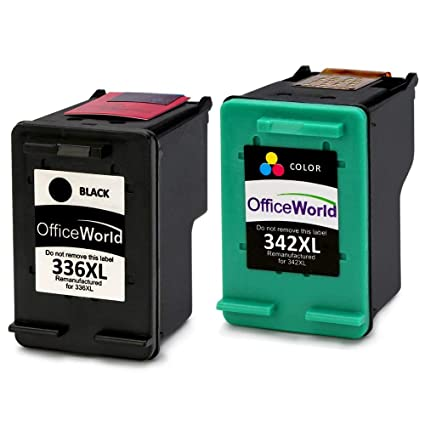 OfficeWorld Remanufactured HP 336 342 Cartuchos de Tinta ...
