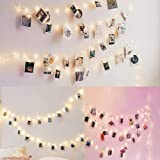 LIDORE 17ft Photo String Lights with Clips 40 LED Fairy Lights for Hanging Pictures Cards Mini Polaroid Photos USB…