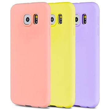Anfire 3X Funda para Samsung Galaxy S6, Carcasa Silicona Gel TPU Ultra Delgado Suave Mate Goma Protectora Caso Flexible Caja Ligero Back Case Cover ...