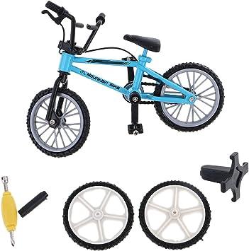 MagiDeal Mini Bicicleta de Montaña con Neumáticos de Repuesto Dedo Sistema de Juguete de Bici de Aleación Regalo Colección Niños - Azul: Amazon.es: Juguetes y juegos