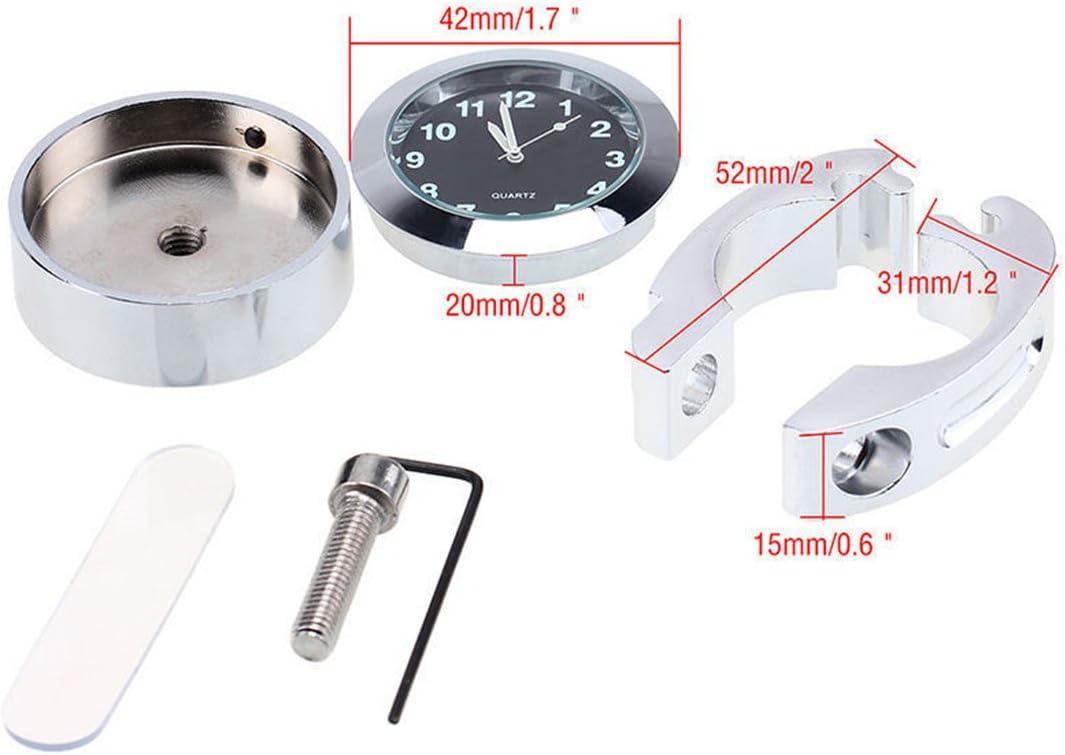 Luoem Horloge num/érique avec support pour guidon de 7//8 /étanche pour/moto ou v/élo